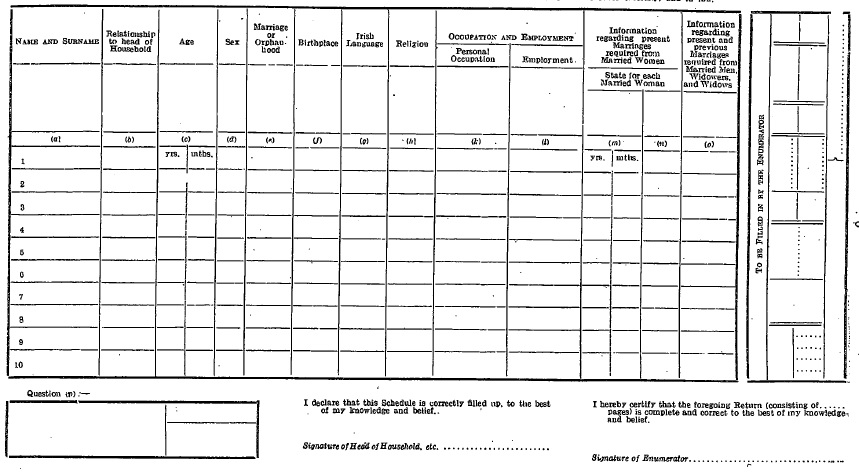 en.si.1926.0076.0001 Order A Census Form on free blank,