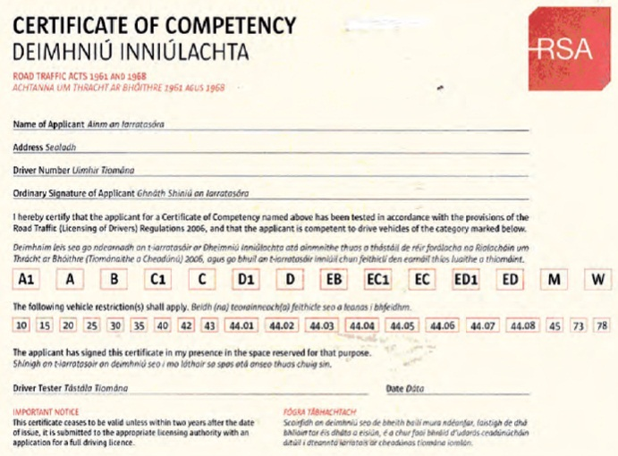 download a driving licence form
