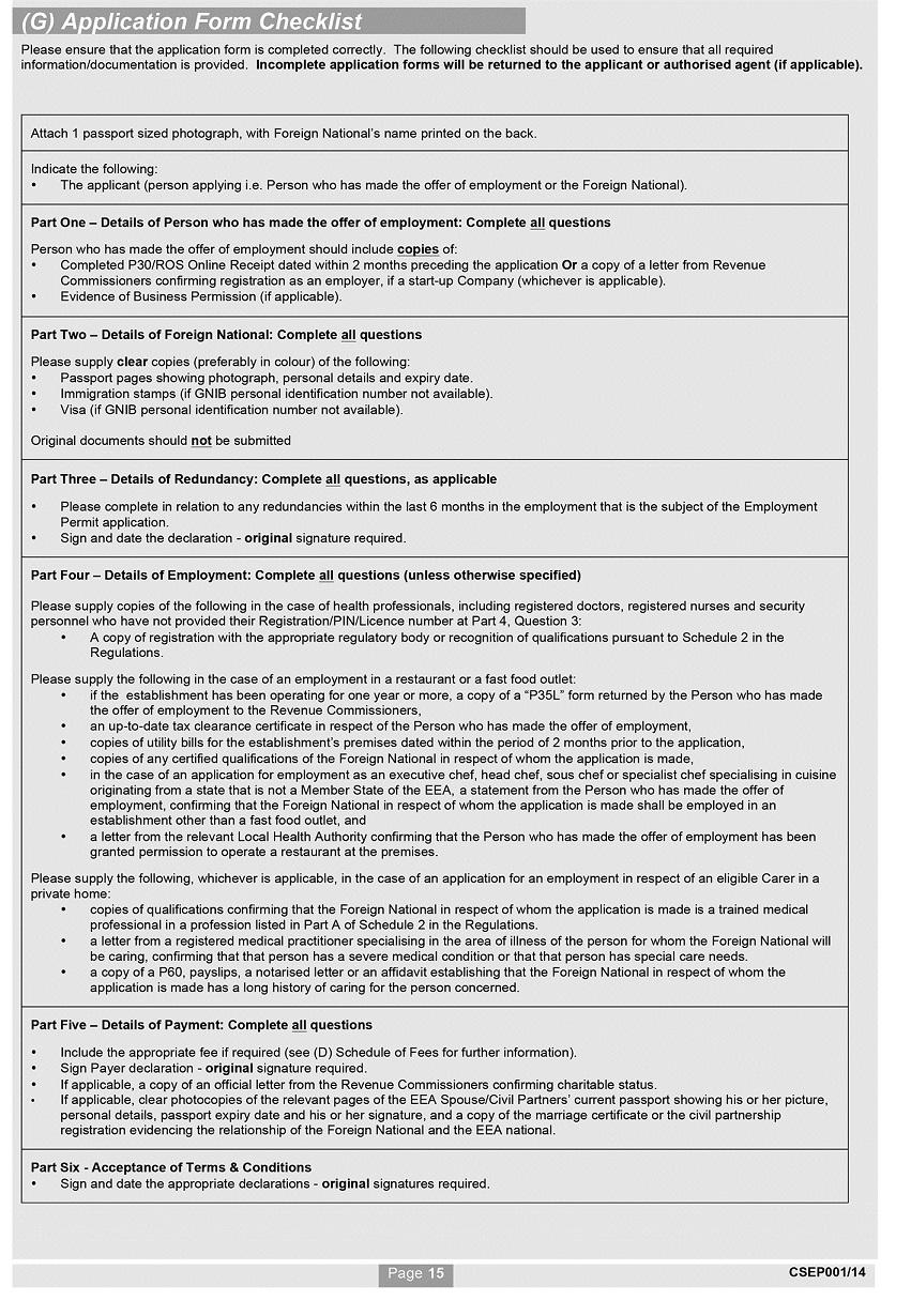 Si No 4322014 Employment Permits Regulations 2014