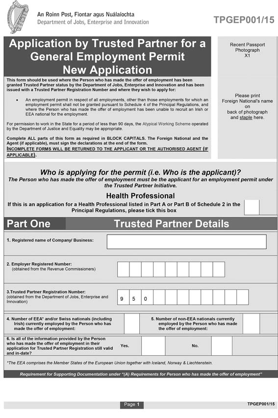 Si No 1722015 Employment Permits Trusted Partner Regulations