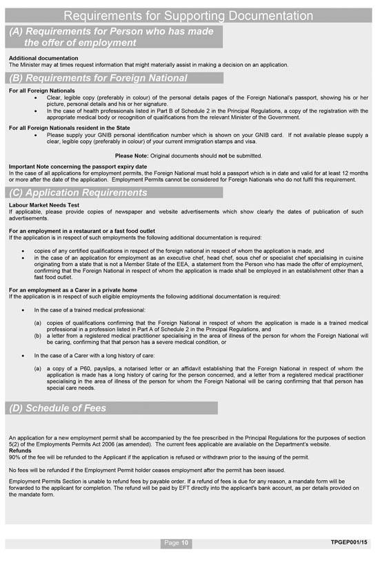 S I  No  172/2015 - Employment Permits (Trusted Partner) Regulations