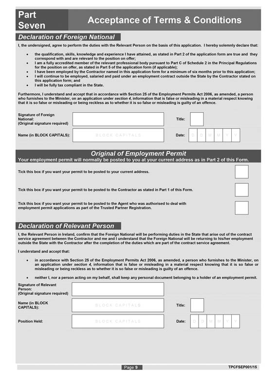 Si No 1722015 Employment Permits Trusted Partner Regulations